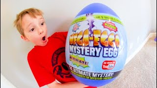 Father & Son OPEN HUGE MYSTERY EGG! / So. Many. Toys.