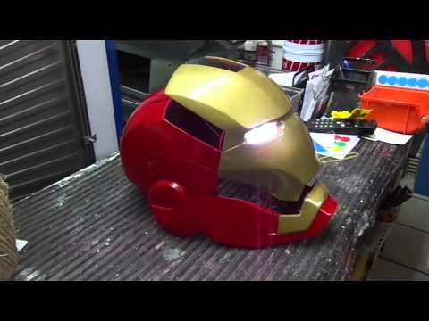 casco a  control remoto iron man