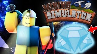 ROBLOX MINING SIM  - Gameplay Walkthrough Part 2 - Rebirth and Mythical Codes