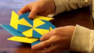 Origami Ninja Star \ Frisbee (reversable)
