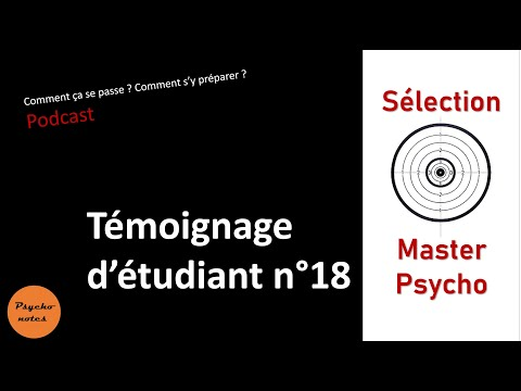 Sélection master psychologie - Témoignage d'étudiant - Psychologie clinique et sociale
