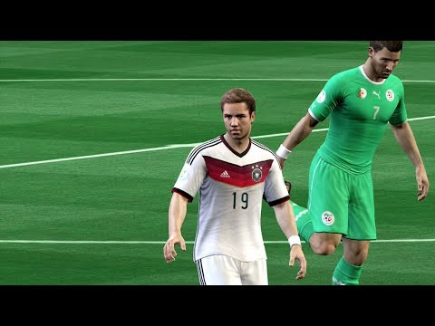 FIFA World Cup 2014: Germany vs Algeria (Round Of 16) Simulation (EA FIFA World Cup 2014 Brazil)
