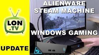 Running Windows Games on the Alienware Steam Machine - GTA V , 3DMark Benchmark