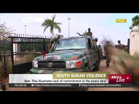 Peackeepers helping to protect civilians in South Sudan
