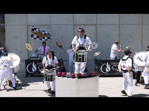 Indiana Pacers High Octane Drum Line at Indy 500