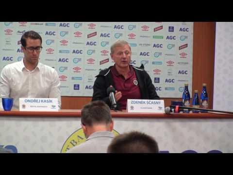 Tisková konference Zdeňka Ščasného po utkání Teplice - Sparta Praha (7.8.2016)