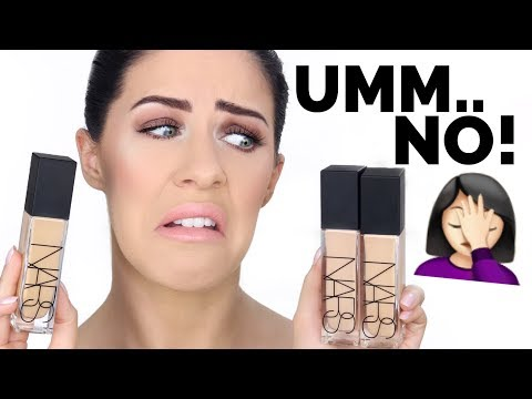 NEW NARS NATURAL RADIANT LONGWEAR FOUNDATION!!! 12 HOUR WEAR TEST & HONEST AF REVIEW :/