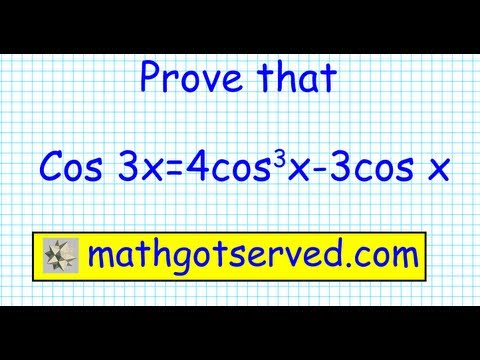 identity prove that cos3x = 4cos^3x-3 cos x