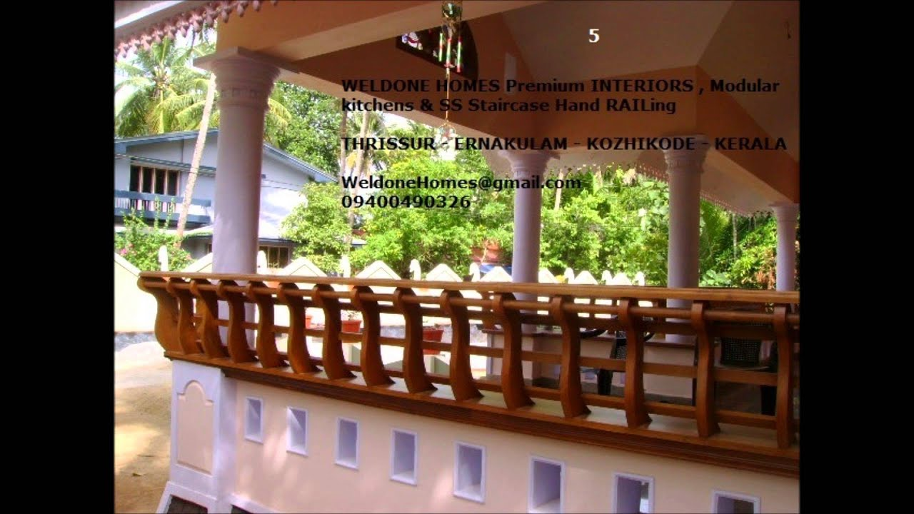 Steel hand rails modular kitcen thrissur call 9400490326 for Kerala window glass design photos