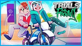 *HILARIOUS* TANDEM DIRTBIKE COURSES & CRASHES! (Trials Rising Funny Moments & Fails)