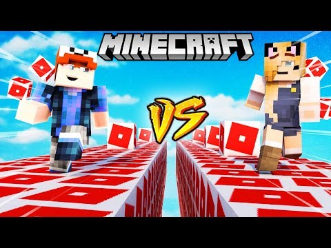SZALONY WYŚCIG! - ROBLOX LUCKY BLOCKI MINECRAFT! (Roblox Lucky Block Race) | Vito vs Bella