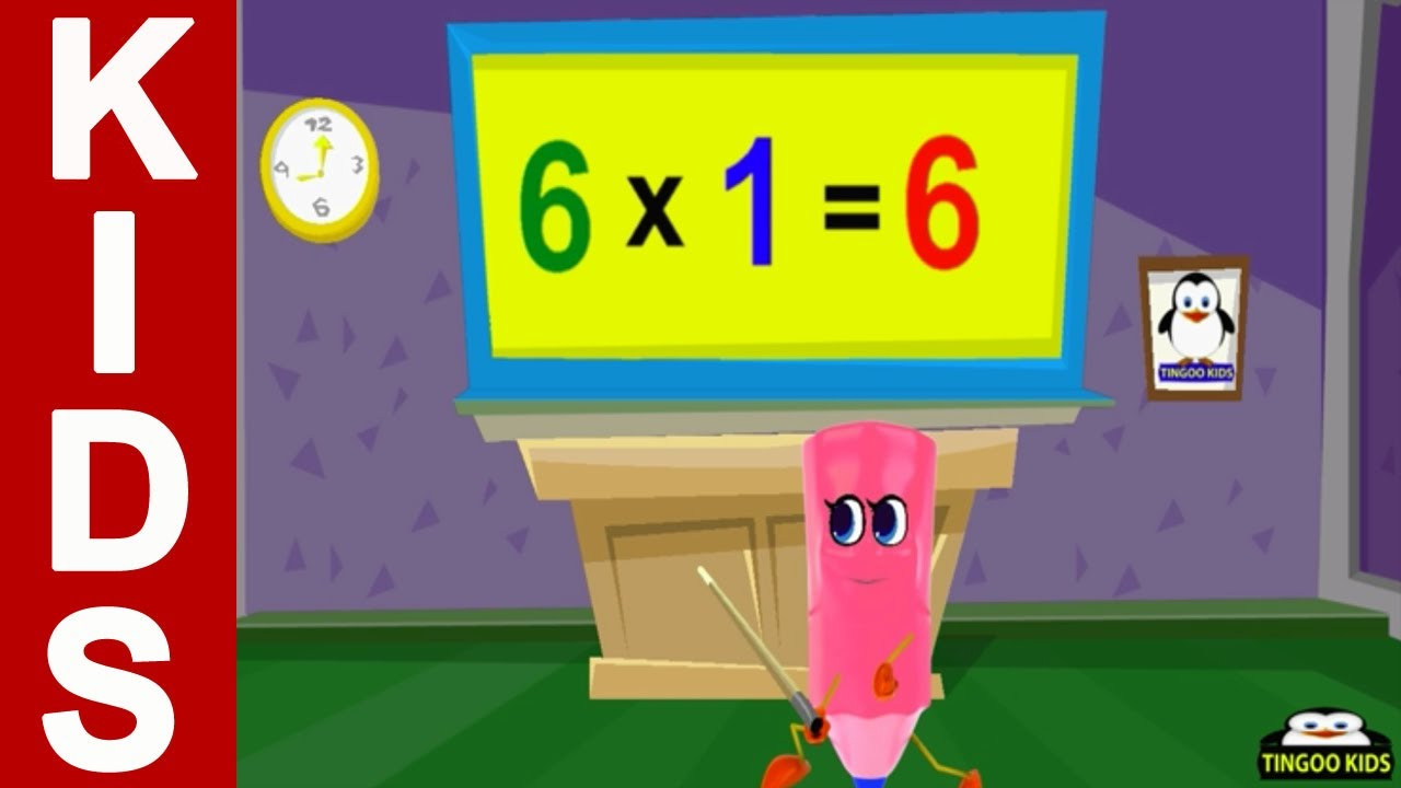 6 times table kids songs nursery rhymes in english for Table 6 song