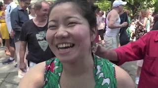 Aurora Flores y ZDB @ Harlem Meer  @ Nicky Marrero   Video por Jose Rivera 7/2/17