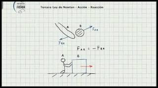 Tercera Ley de Newton - Ley de Accion Reaccion - Concepto Basico - Video 107