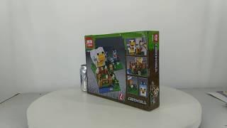 Mở hộp Lepin 18035 Lego Minecraft 21140 Chicken Coop giá sốc rẻ nhất