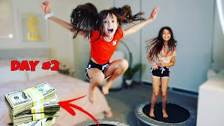 Last to Stop Jumping on the Trampoline Wins CHALLENGE | TwoSistersToyStyle