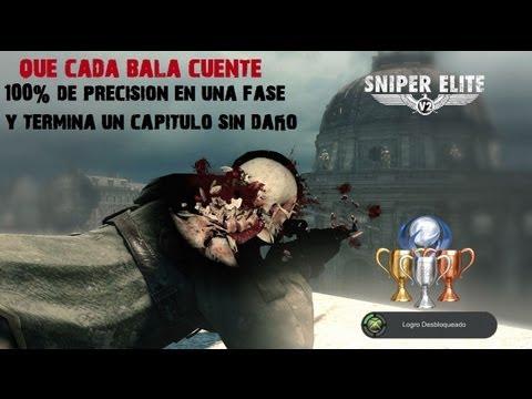 Sniper Elite V2 Guía - Sniper Elite V2-Logro/Trofeo Que cada bala cuente-100% de precisión/Termina una fase sin daño