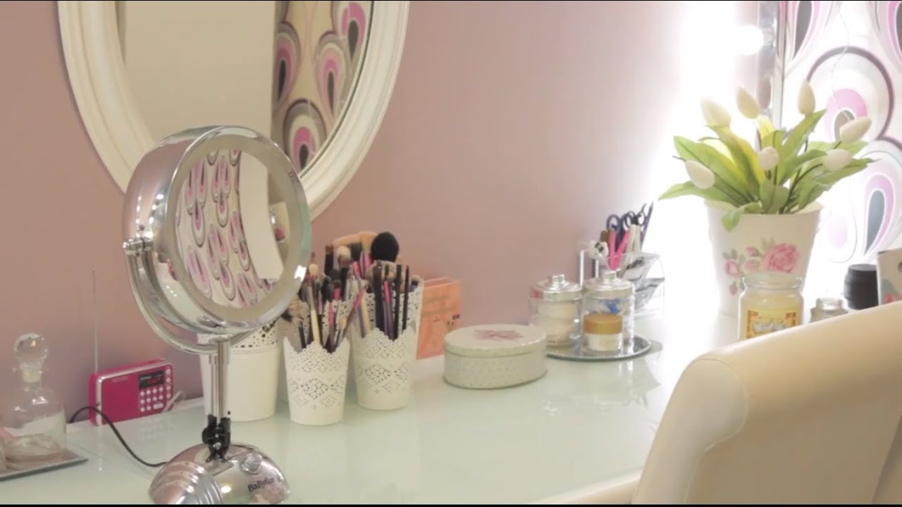Makeup room tour rangement maquillage youtube - Tour de rangement maquillage ...