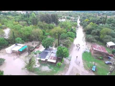Hay 1.100 familias afectadas por el desborde del arroyo Cabayú Cuatiá, en La Paz
