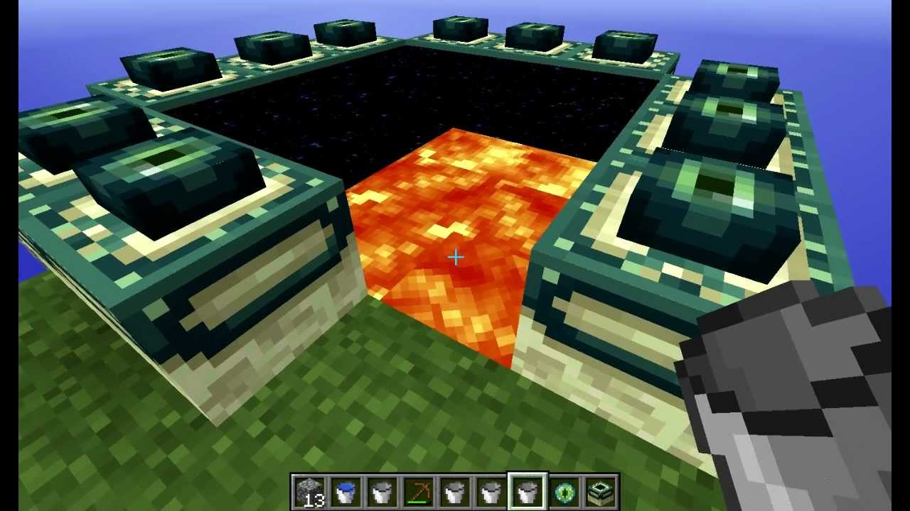 how to make the end portal in skyblock