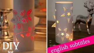 Weihnachtsdeko basteln - 3D-Deko-Windlichter Tutorial / 3D wind lights How-to | Deko Kitchen