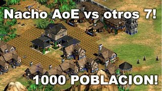 NACHO AOE vs 7 (FFA) EN WORLD MAP! 1000 POBLACION!