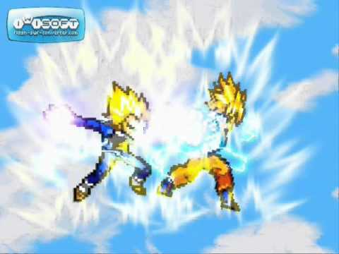 Goku Fights Broly Goku vs Broly Sprite