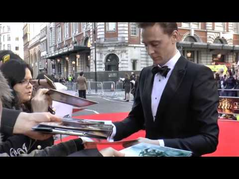 The Olivier Awards2014 Tom Hiddleston Arrival