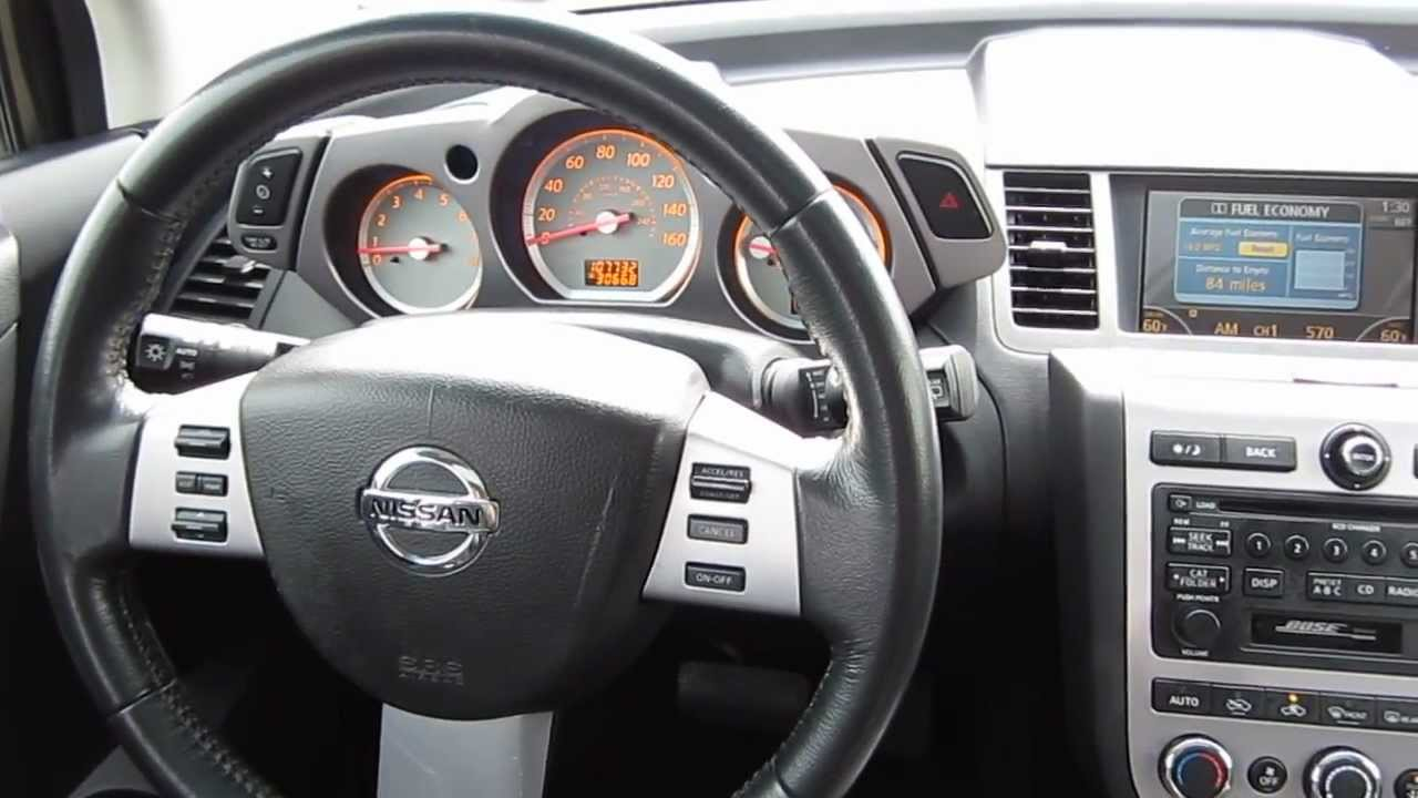 2006 Nissan Murano Red Stock V3110a Interior Youtube