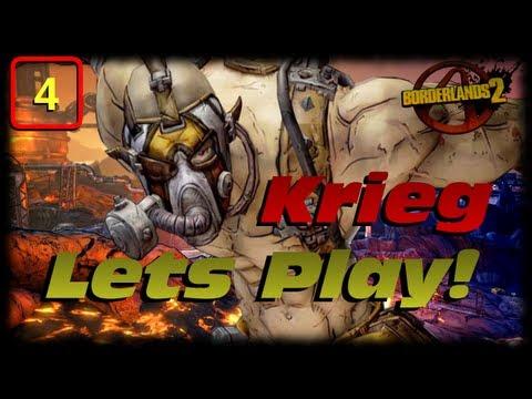 Borderlands 2 Krieg Lets Play Ep 4! Badass Psychos. Loot Midgets & Sirens! OH MY!!!