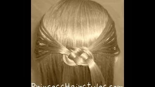 Pretzel Knot Hairstyle For Teens