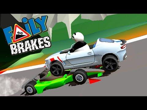 Faily Brakes обновление 5 НОВЫХ ТАЧЕК и КОСТЮМЫ задания game kids Мультяшные игры про машинки гонки