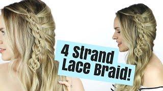 4 Strand Lace Braid Hair Tutorial