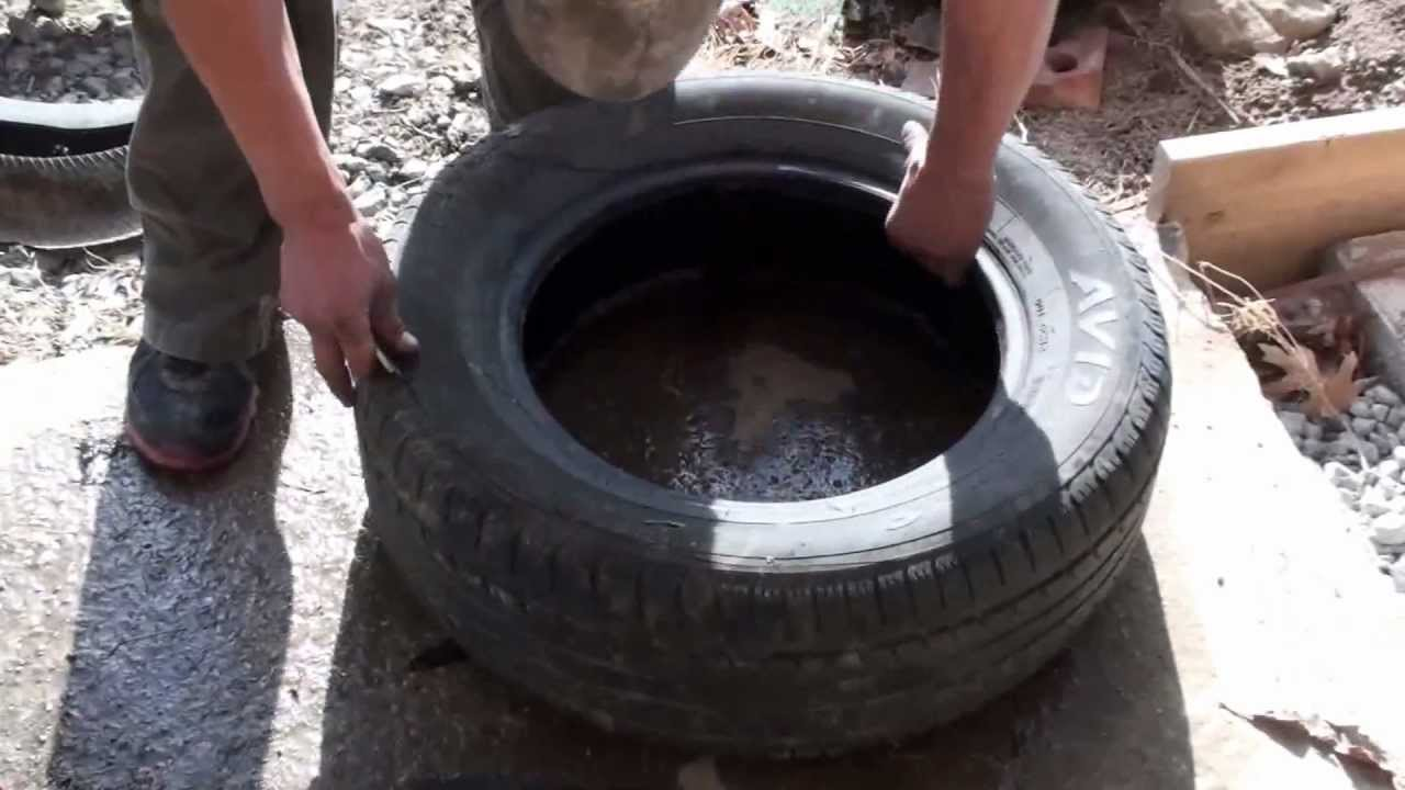 Cheap tire cutter By Adam Johnson - YouTube