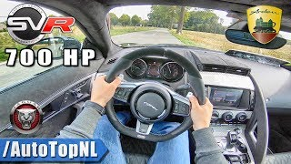 700HP Jaguar F Type SVR 5.0 V8 Supercharged Arden | EXTREMELY LOUD! | POV Test Drive by AutoTopNL