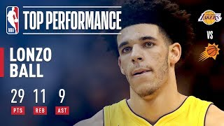 Lonzo Ball Completes A Near Triple Double in Lakers Win | 29 Points, 11 Rebounds, 9 Assists by : NBA