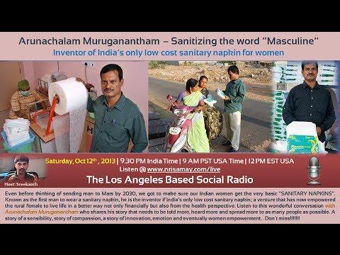 Inventor of Low cost Sanitary Napkins, Arunachalam Muruganantham