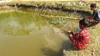 Best Fishing Video | Kids Fishing By Daily Village Life (Part-23)
