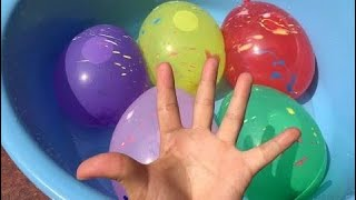 5 Colors Wet Balloons | The Surprise For Kids