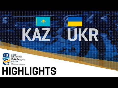 Kazakhstan - Ukraine | Highlights | 2017 IIHF Ice Hockey World Champions Division | Group A