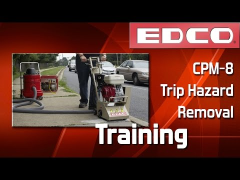 How to Remove Trip Hazards with a CPM-8 Scarifier