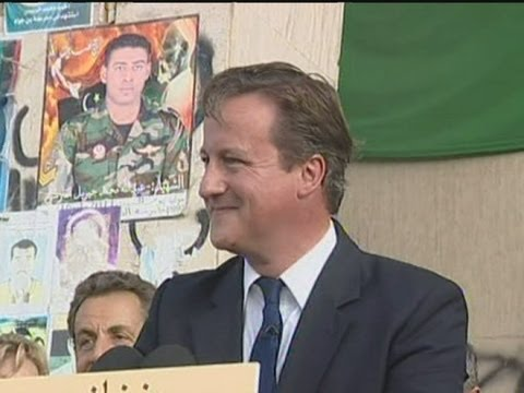 David Cameron is given a hero's welcome in Libya