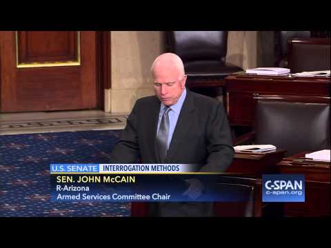 Sen. John McCain (R-AZ) on Waterboarding & other Inhumane Interrogation Methods (C-SPAN)