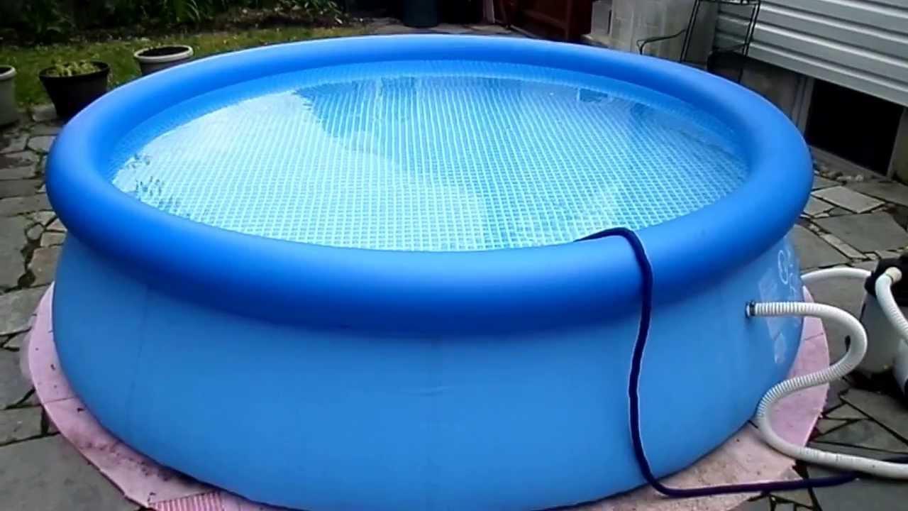 Intex pool youtube for Intex pool koi pond