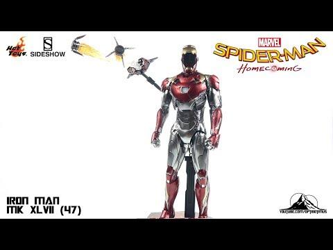 Optibotimus Reviews: Hot Toys Spider-Man Homecoming IRON MAN MK XLVII (47)