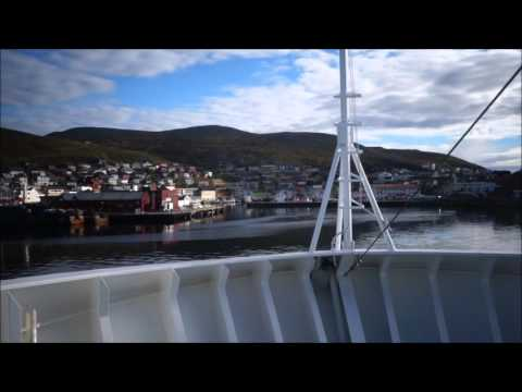 Hurtigruten Escorted Voyage: Honningsvåg Port Arrival