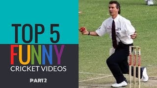 Top 5 - Cricket's Funniest moments (Updated 2016) - Part 2 | SIMBLY CHUMMA 127