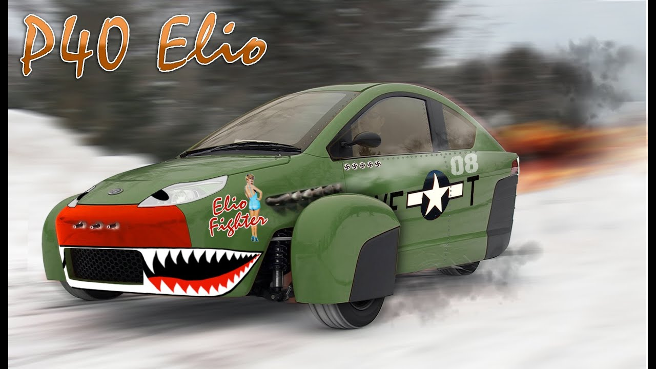 Elio Motors P40 Warkhawk Body Wrap Modification Kit Design