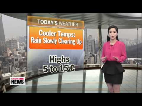 WEATHER 130320: Cooler Temperatures, Rain Clearing Up