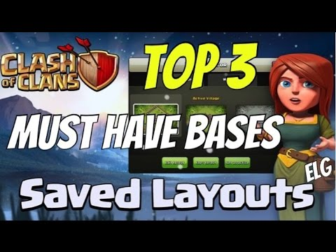 Clash Of Clans Top 3 Bases - Best Bases To Have - Town Hall 7 Trophy/Defensive Farming Bases